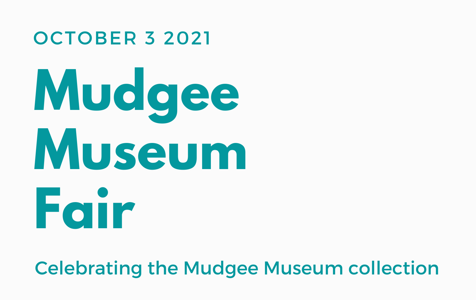 Museum Fair – Save The Date